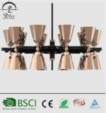 Modern Iron & Aluminum Hanging Light Luxo Cone Chandeliers