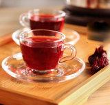 金張りのカップ・アンド・ソーサー、茶カップ・アンド・ソーサーの卸売、ガラス茶カップ・アンド・ソーサー