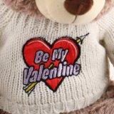 O presente do Valentim quente da venda encheu o urso da peluche do brinquedo do luxuoso com camisola branca