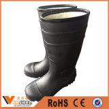 Carregadores de chuva mornos do PVC do inverno com dedo do pé de aço