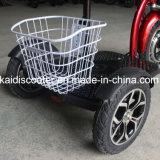 3개의 바퀴 바구니를 가진 전기 기동성 스쿠터를 접혀 성인 500W