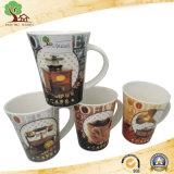 Taza de cerámica con el diseño de encargo de la insignia para el café