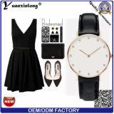 Vigilanza semplice alla moda di Cluse di modo Yxl-231 per le vigilanze di cuoio europee del quarzo del diamante delle donne degli uomini di affari dell'OEM