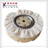 10inch behandelte weiße schräge Falten-polierendes Rad