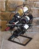 Самомоднейший шкаф вина металла бутылки декора 6 для кухонных стол столов