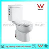 Het tweedelige Ceramische Toilet van het Watercloset van de Waren van het Porselein Sanitaire