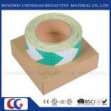 Лента крена высокой опасности стрелки зеленого цвета видимости отражательная (C3500-AW)