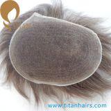 보이지 않는 매듭 인도 사람의 모발 프랑스 레이스 남자의 Toupee