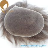 Natural Hairline Human Hair Bleach Knots French Lace Toupee