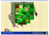 Equipamento interno do campo de jogos da mini área da criança