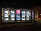 Акриловые светодиодные карманы для отображения окна агента недвижимости