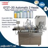 Máquina de rellenar de 2 pistas de la salsa gruesa automática del pistón con la mezcla para la salsa de chiles (GT2T-2G)
