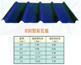 Panneau en acier de toiture pour l'entrepôt en acier