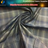 Tela teñida de la verificación de los hilados de polyester con la seda de oro y calandrar (YD1171)