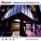 Transparent P3.75/P5/P7.5/P10/P16/P20 d'intérieur fixe/glace/écran de visualisation visuel mur de guichet/rideau DEL pour la publicité