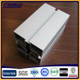 Perfiles industriales de aluminio para la ventana y marcos y decoración de puerta