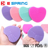 New Design Heart Shape Makeup Silicone Brush Egg Cleaning Tools
