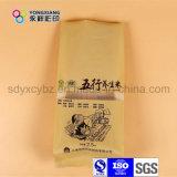 Бортовой мешок пластичный упаковывать риса Gusset