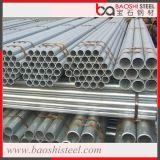 Tubo de aço pré-galvanizado redondo de carbono estrutural