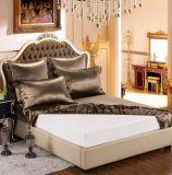 Taihuの雪の絹の優雅シリーズOeko-Tex 100の標準絹の継ぎ目が無い寝具19mommeの実質の贅沢なコーヒー純粋なクワ絹シートセット