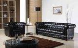 Sofá clássico moderno europeu italiano do couro do escritório do hotel