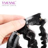 Clip rizado rizado brasileño de 18 clips en el color natural 120g/Set del pelo de la Virgen de las extensiones del pelo humano