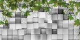 schönes Garten-Entwerfer-Ölgemälde/Tapete des Hinterhof-3D für Tür