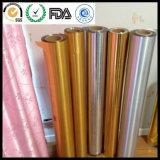 L'animale domestico d'argento di colore ha metallizzato la pellicola, pellicola metallizzata BOPP dorata di colore per la laminazione calda