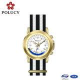 Horloge van het Kwarts van de Datum van de Band van de Stof van het Geval van het Roestvrij staal van het Horloge van de Riem van de NAVO het Nylon Auto