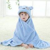 Bebé Aspen, colada y traje encapuchado del BALNEARIO del oso del Waddle, azul/blanco, 0-9 meses