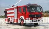 Sino Camión HOWO 6000L tanque de agua de lucha contra incendios de camiones