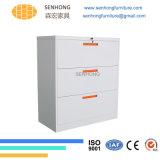 Casellario d'acciaio del metallo dei cassetti di laterale 3 di memoria di archivio di uso dell'ufficio