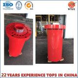 Fabricante altamente especialmente projetado do cilindro hidráulico da flange em China