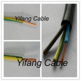 Alambre eléctrico del PVC del conductor de cobre para el edificio o Constrction