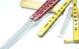 方法のステンレス鋼の折る蝶ナイフの毛の櫛