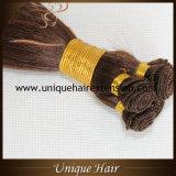Trames attachées par main brésilienne de cheveu