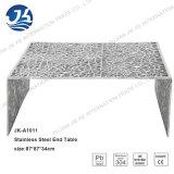 Mesa de centro lateral 87*87*34cm da tabela de extremidade da tabela do aço inoxidável 201 mediterrâneos do estêncil da estaca do laser do estilo