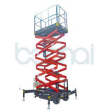 lift van de Schaar van het Platform van het Werk van 11m de Elektrische Hydraulische Lucht Gemotoriseerde