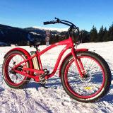 Bicicleta elétrica do pneu gordo novo da praia do projeto