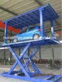 Table élévatrice de véhicule de ciseaux de paquets de double de garage souterrain