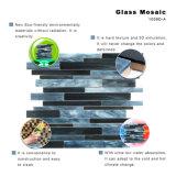 Mattonelle di mosaico di vetro di Backsplash dell'acquazzone nero dei materiali da costruzione da vendere