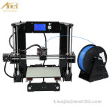 쉬운 고품질은 무료 샘플 필라멘트 +Teaching 영상을%s 가진 Anet 3D 인쇄 기계 기계 Prusa I3 3D 인쇄 기계 장비 DIY를 조립한다