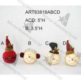 Штабелировать вверх по подарку украшения семьи снеговика рождества