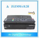 결합 수신기 Zgemma H. 2h를 가진 DVB-S2 + DVB-T2/C 잡종 조율사