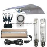 el vatio HPS Mh de 400W 600W 1000W crece el reflector ajustable del kit del sistema ligero para la planta