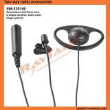Écouteur bi-directionnel de forme de la radio D de 3 fils pour Kenwood Tk3302 Tk208 Tk270 Tk270g Tk3107