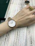 가장 새로운 Dw 숙녀 32mm 은 예 316L 스테인리스 메시 결박 주문 미니멀리스트 시계