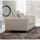 Il sofà di cuoio moderno ha impostato con il piedino 912 dell'acciaio inossidabile