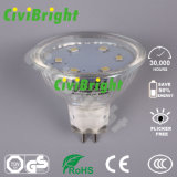 proyector de cristal de la lámpara del shell LED de Dimmable del bulbo de 3W MR16 LED