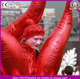 Heißer Feld-Dekor-aufblasbares rotes goldenes Feuer-Parade-Leistungs-Kostüm für Ereignis-Stadiums-Leistung